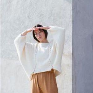WOL HIDE Black Mod Knit Pullover Poncho  Sz S/M